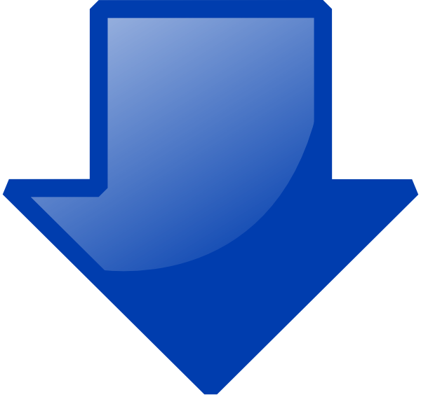 Blue Down Arrow Png image #36987
