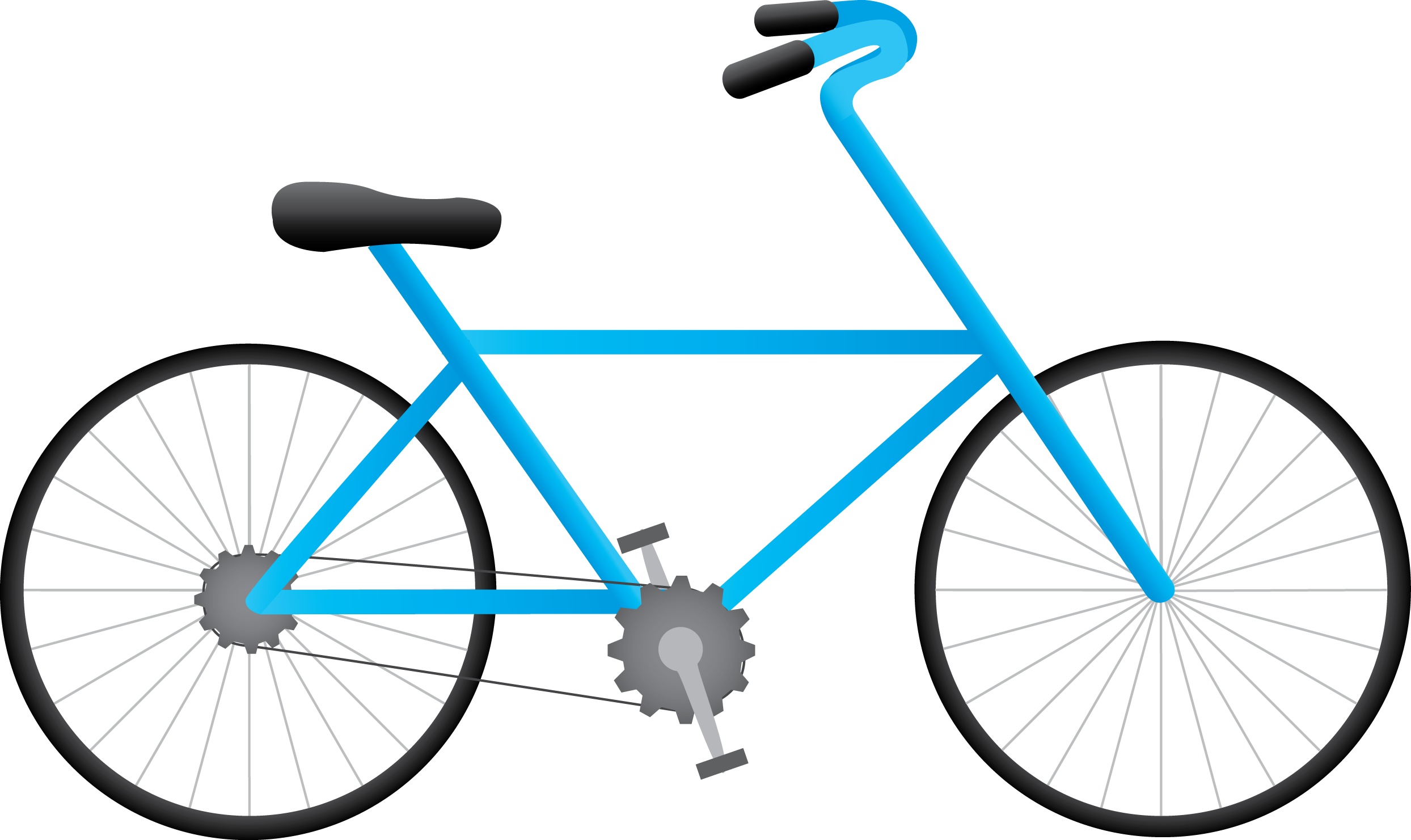 Blue Drawing Bicycle Png ClipArt image #45203