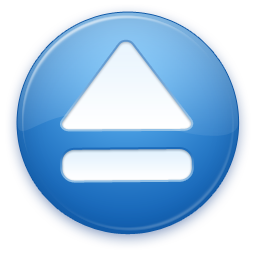 Blue Eject Icon image #13957