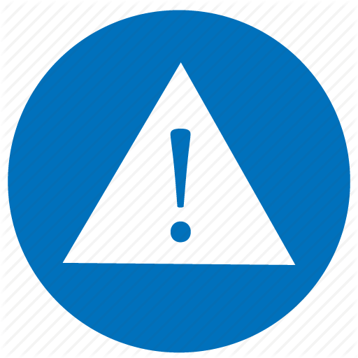 Blue Error Danger Icon Png Transparent Background Free Download 25260 Freeiconspng