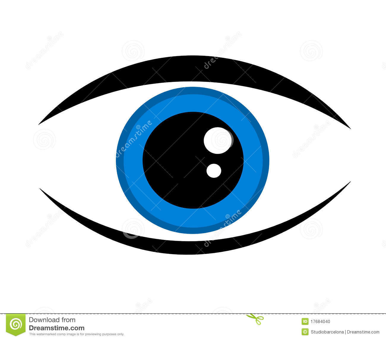 Blue Eye Icon Stock Photo  Image: 17684040