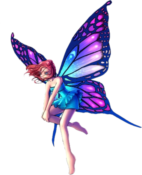 Blue Fairy Wings Png image #36479