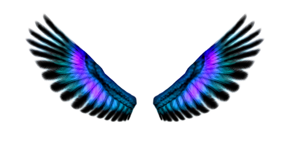 Blue Fairy Wings Png image #36485