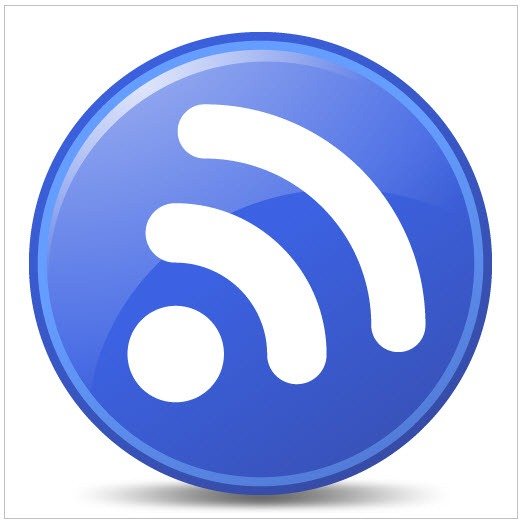 Blue Feed Icon Png image #28061