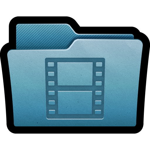 Blue File Movies Folder Image