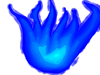 Blue Fire Clipart Png image #43406