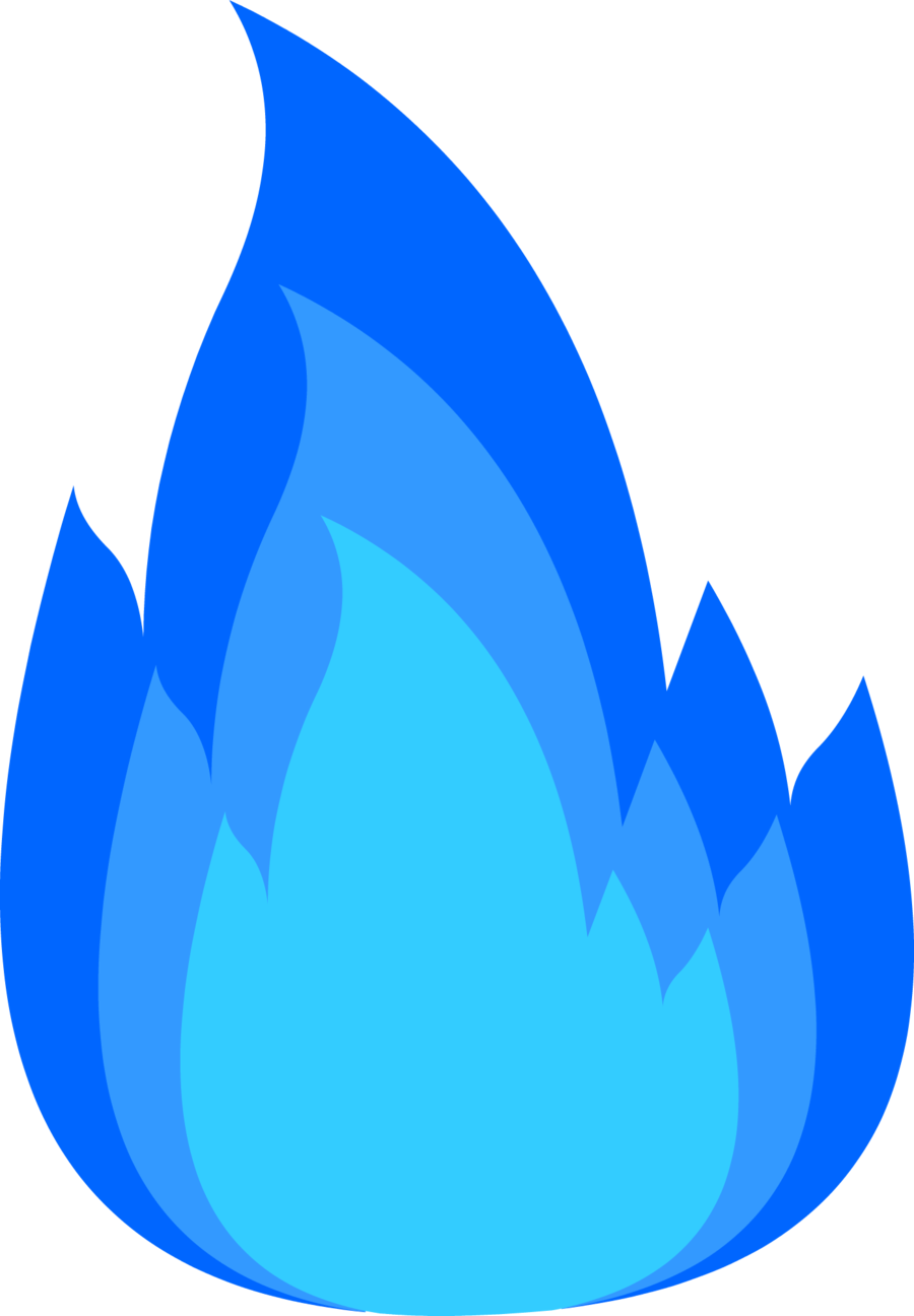 Blue Fire Png image #2451