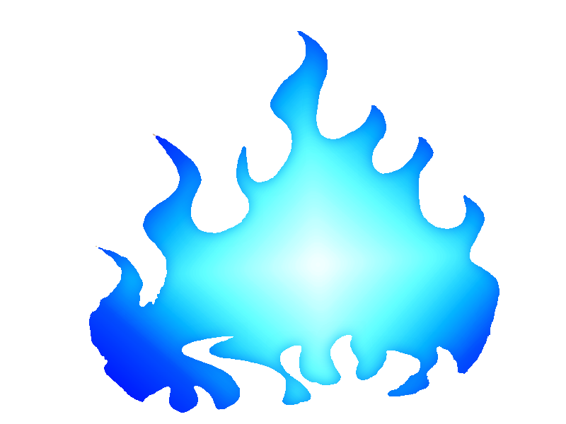 Blue Fire png clipart