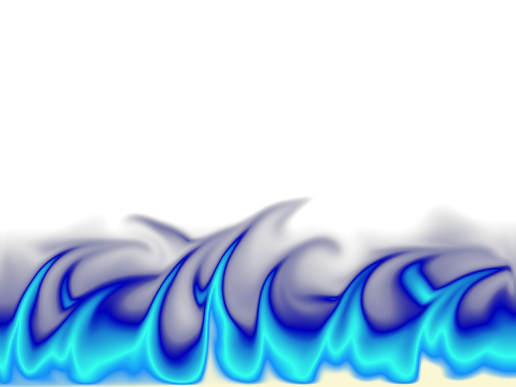 Blue Fire Transparent Image