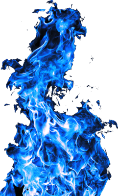 Blue Flames Png image #43400