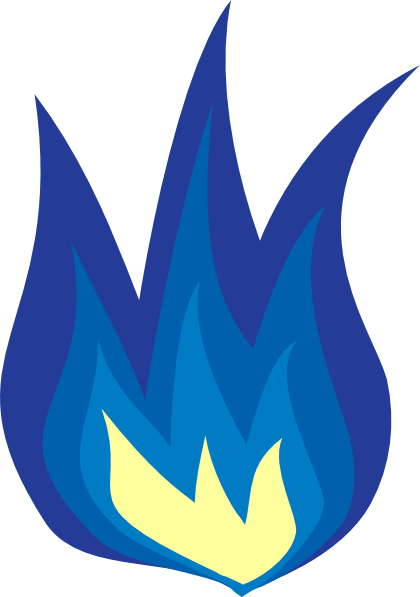 Blue Flames In Png image #34522