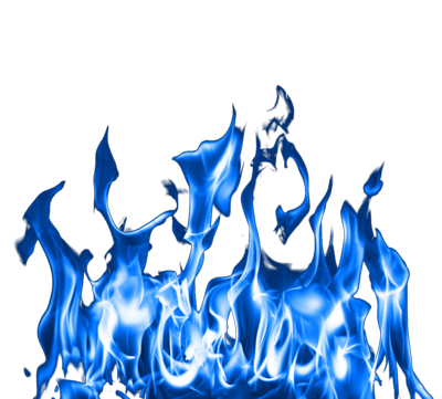 Blue Flames PNG HD image #34504