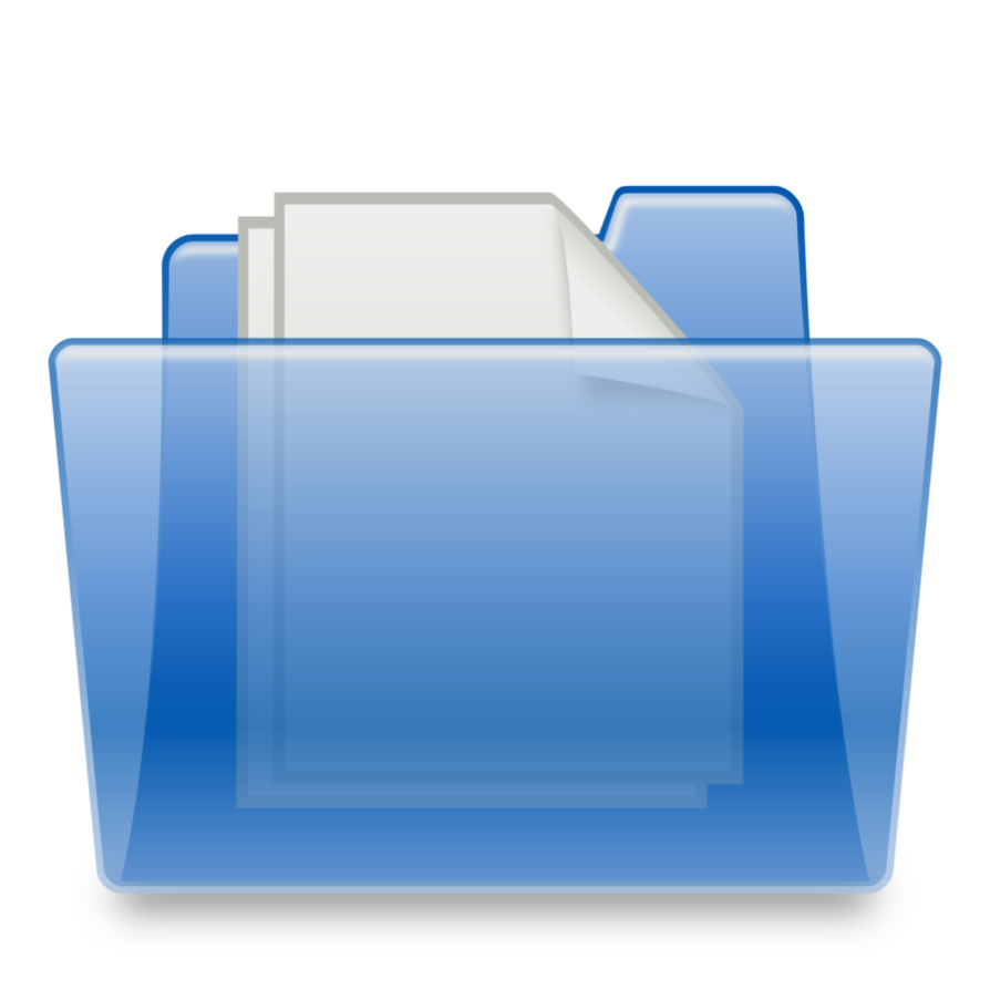 Blue Folder, Directory Icon Png image #12392