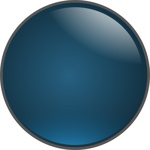 blue glossy ball png