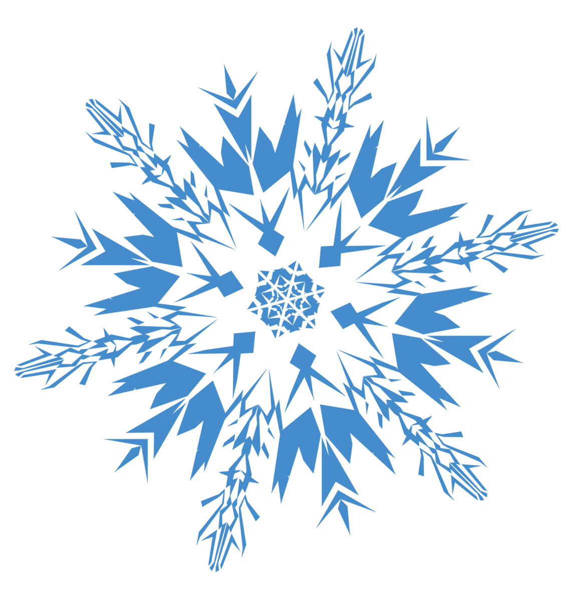 blue hd snowflakes png
