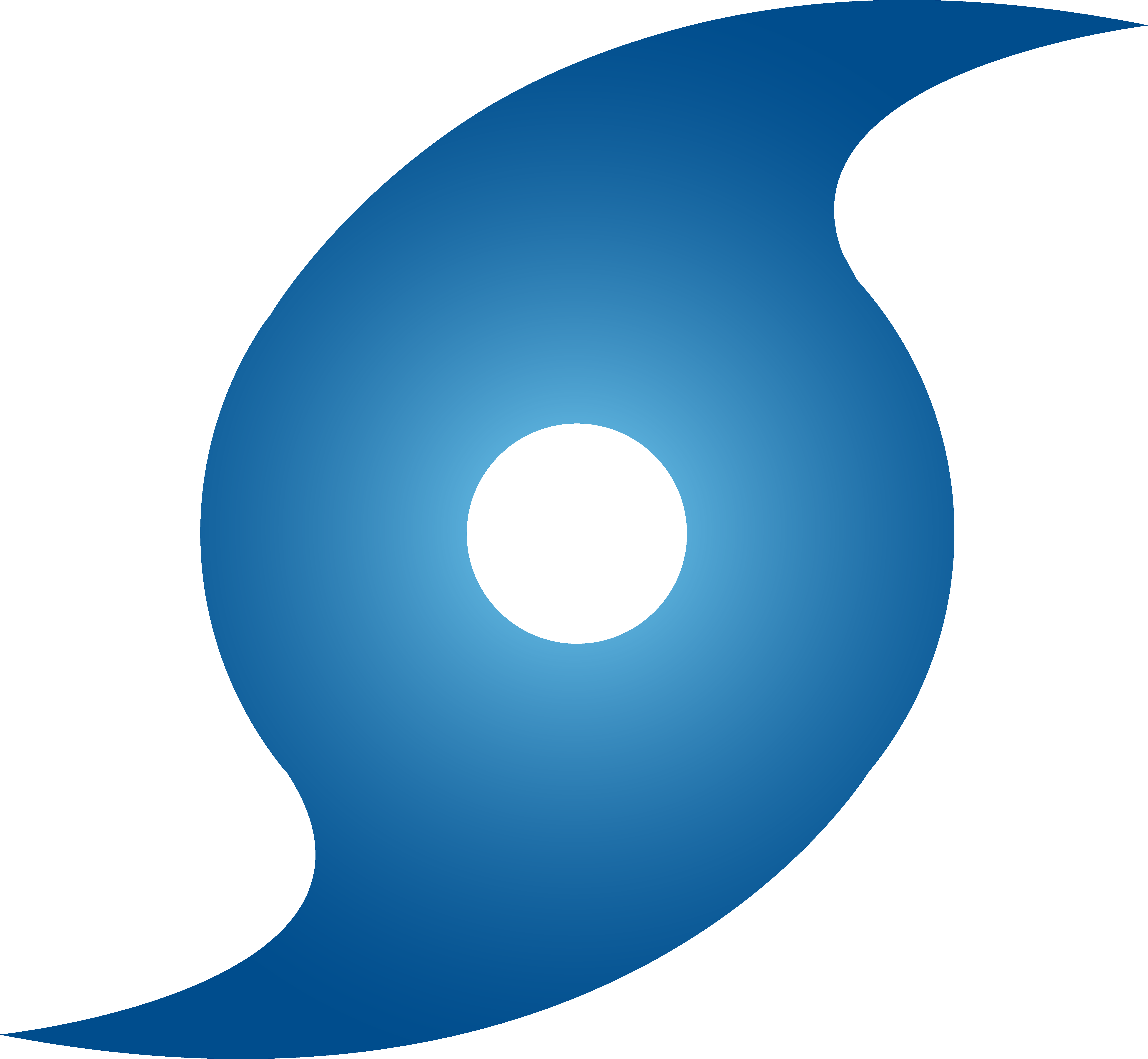 Blue Hurricane Weather Symbol image #42355