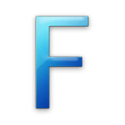 blue letter f icon png