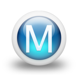 Blue Letter M Icon Png image #10566