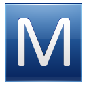 Blue Letter M Icon Png image #10568
