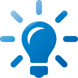 Blue Lightbulb Idea Icon Png Transparent Background Free Download Freeiconspng