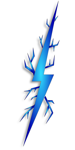 Download Realistic Lightning Bolts With Transparency Blend Stock