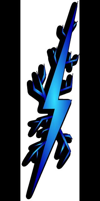 blue lightning bolt png