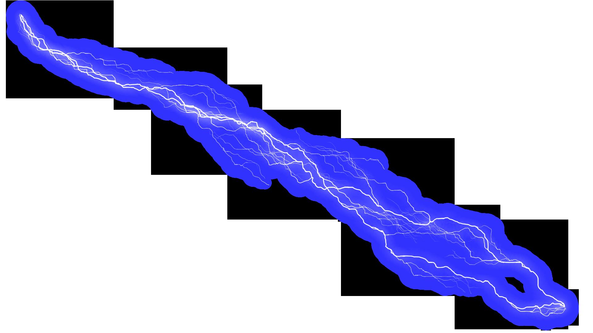 Blue Lightning HD PNG image #44009