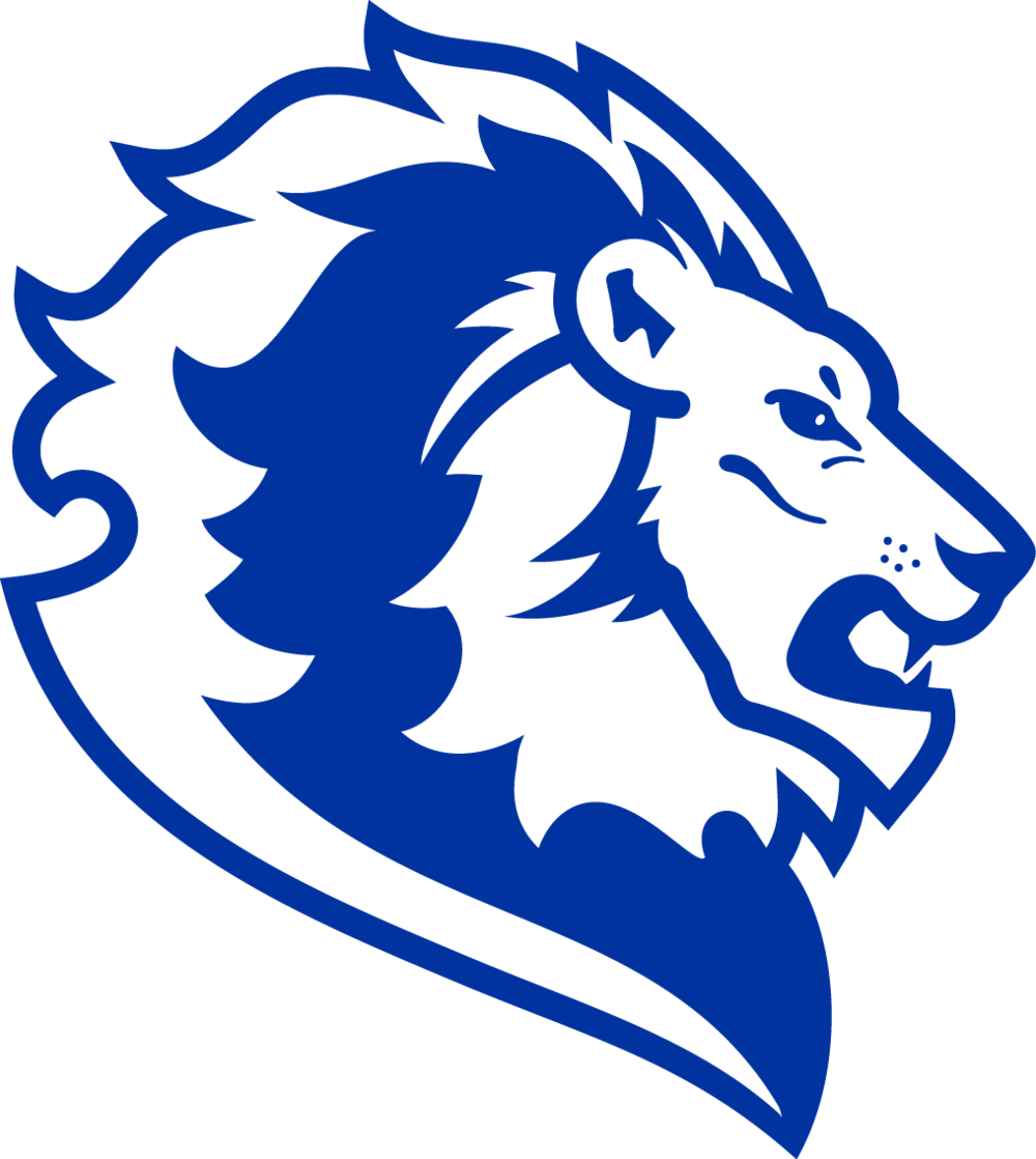 blue lion head png