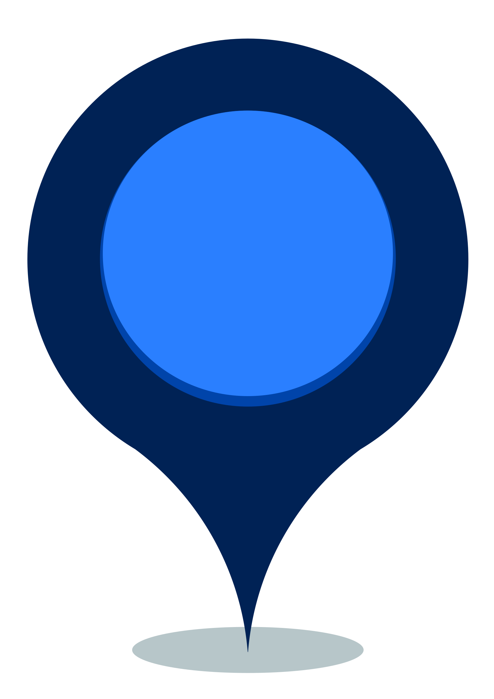 Blue Map Pin Png image #39469