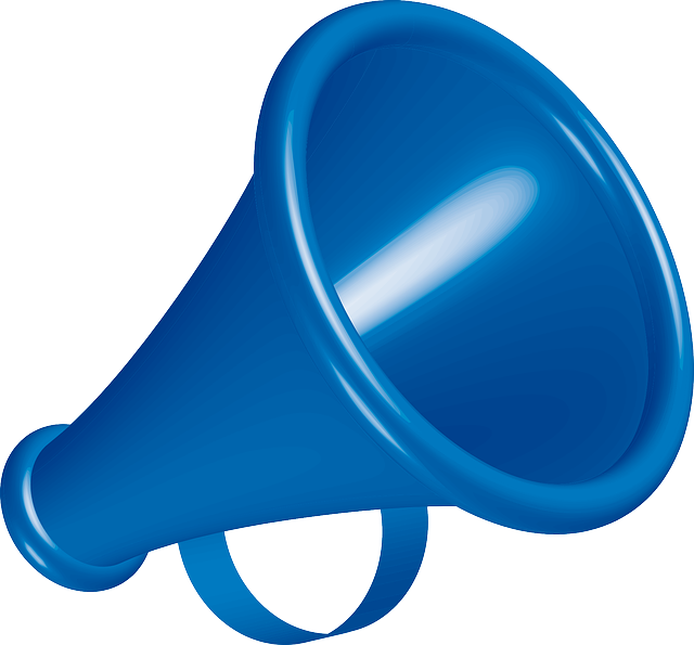 Blue Megaphone Vector Download Icon image #45762
