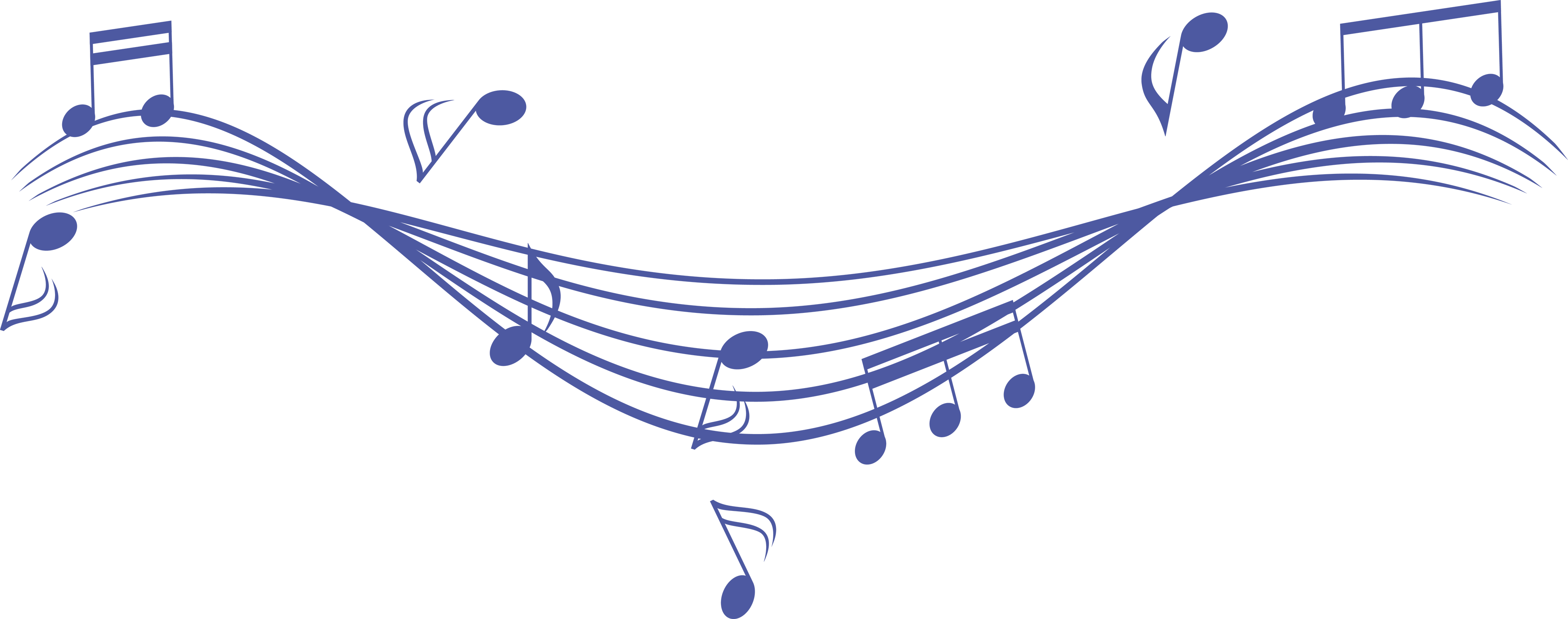 Blue Music Note Image