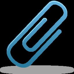 blue paper clip icon