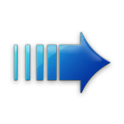 Blue Pattern Right Arrow Icon image #7591