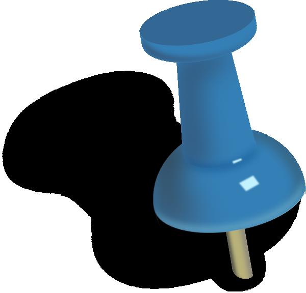 Blue Push Pin. stock illustration. Illustration of