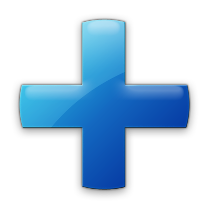 Blue Plus Icon image #13071