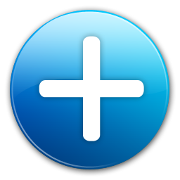 Blue Plus Icon image #13066