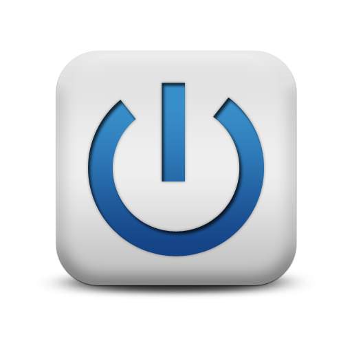 Blue Power Button Symbol Icon image #8360