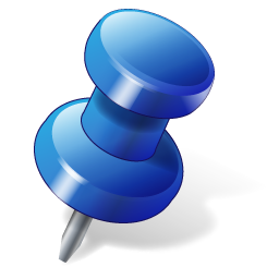 Blue Push Pin Icon image #17895