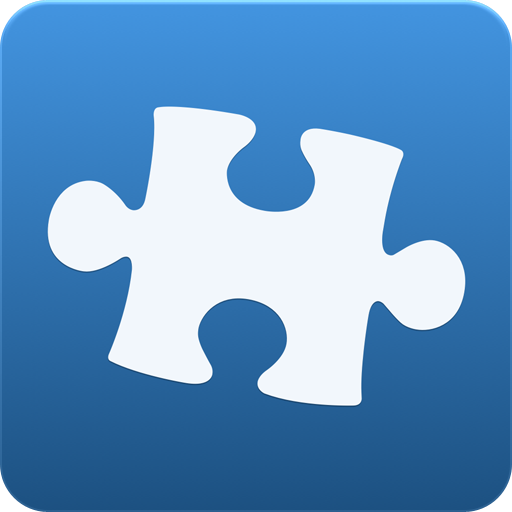 Blue Puzzle Icon 28378