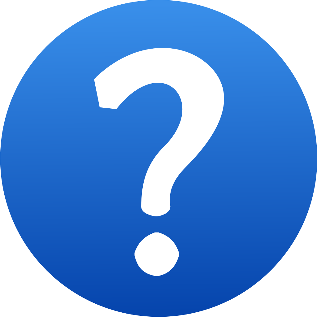 Blue Question Mark Icon image #13453
