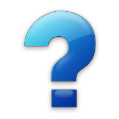 Blue Question Mark Symbol Icon image #41648