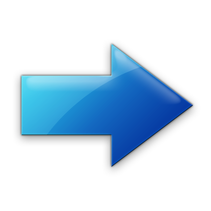 Blue Right Arrow Icon image #7586