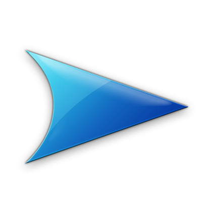 Blue right arrow icon