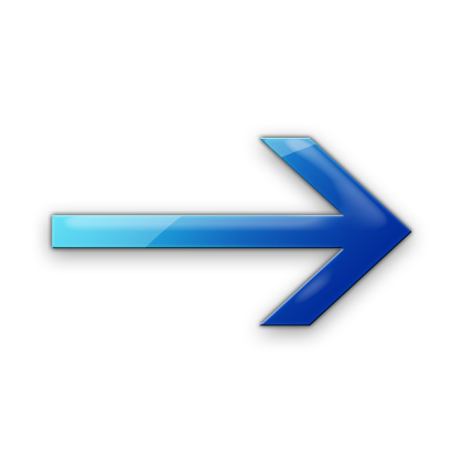 Blue Right Arrow Icon image #7576