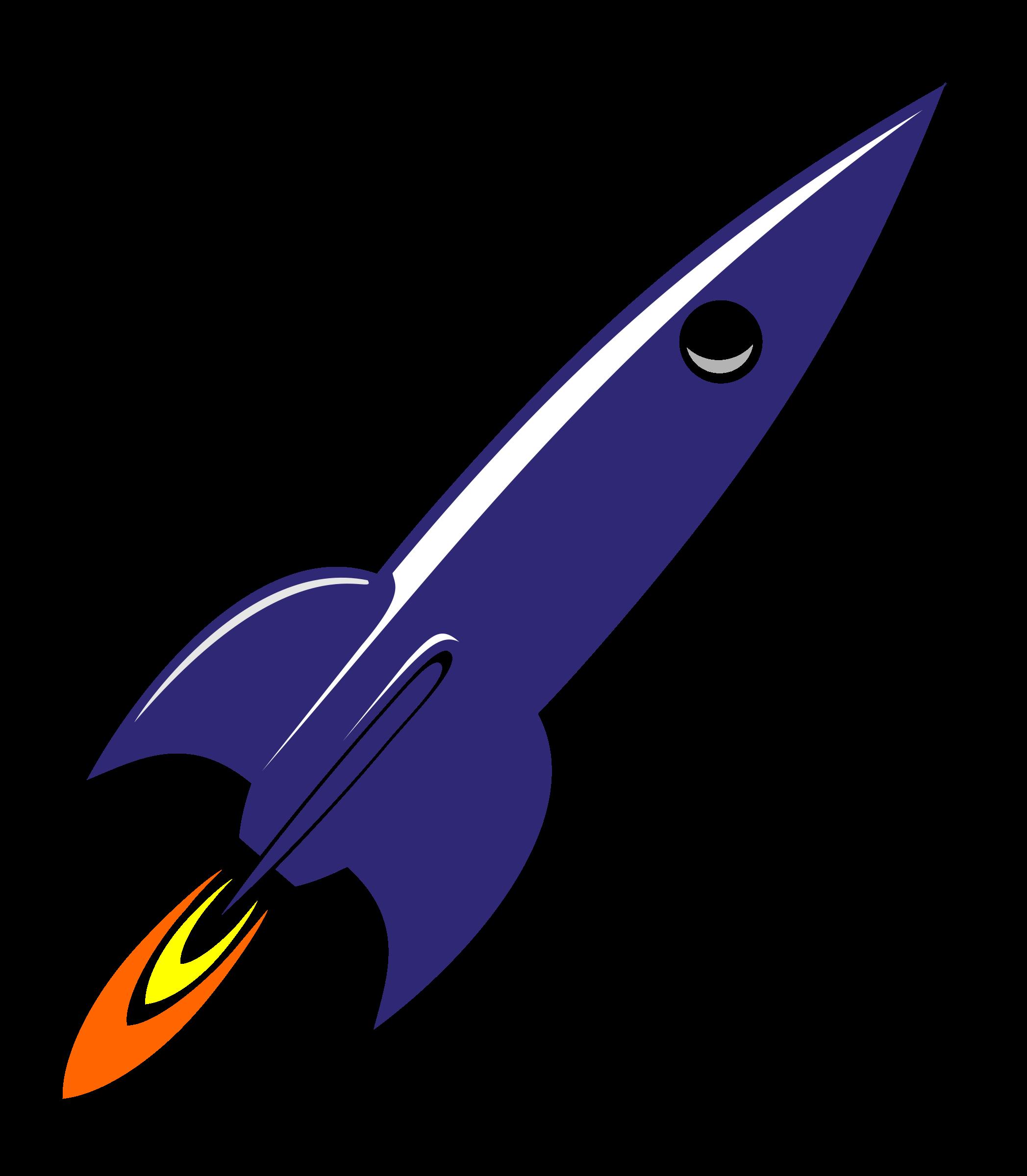 blue rocket png