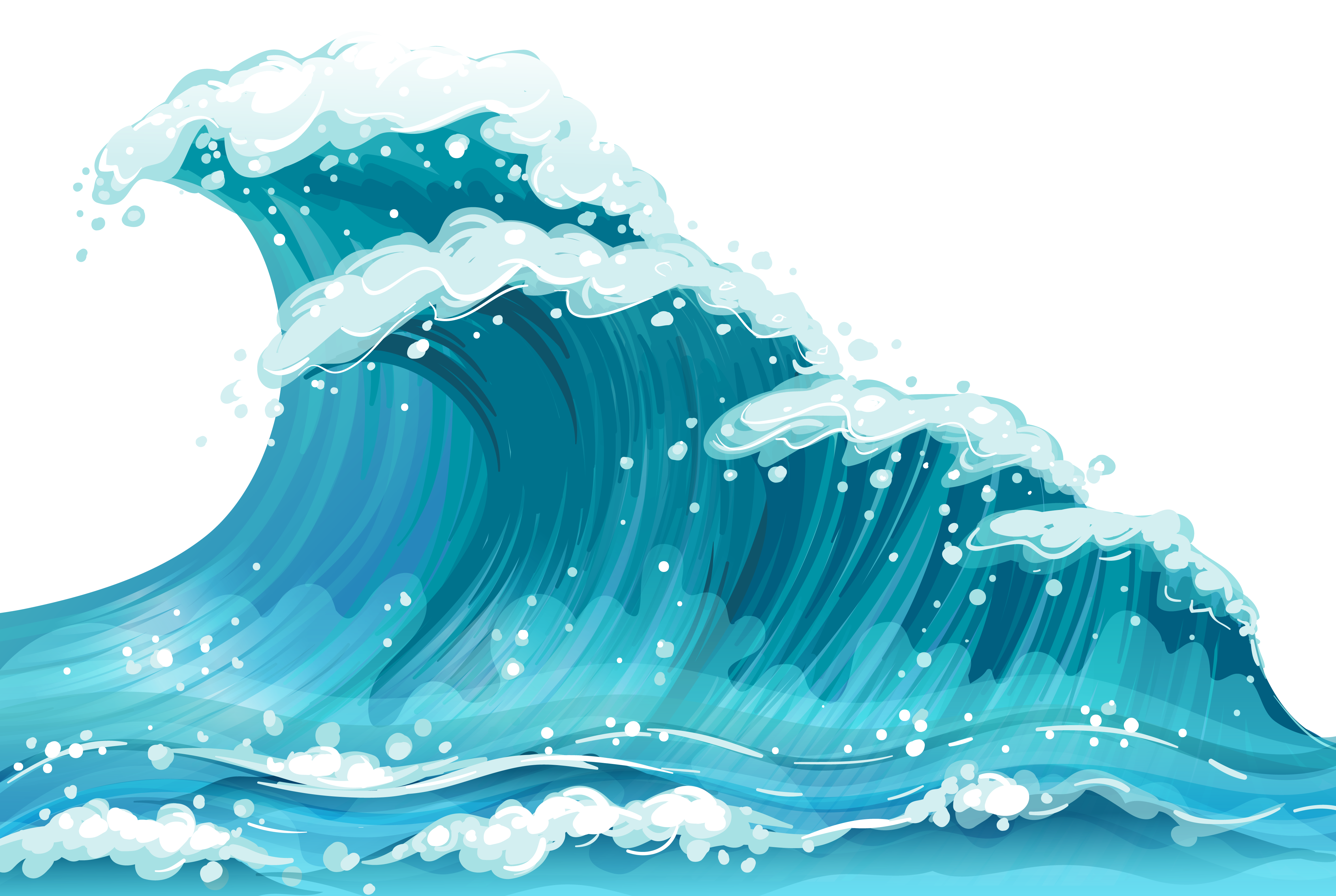 Blue See Wave Png