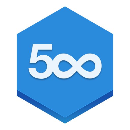 Blue Shapes 500px Icon Png image #38411