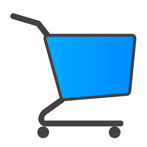 Blue Shopping Cart Icon image #28349