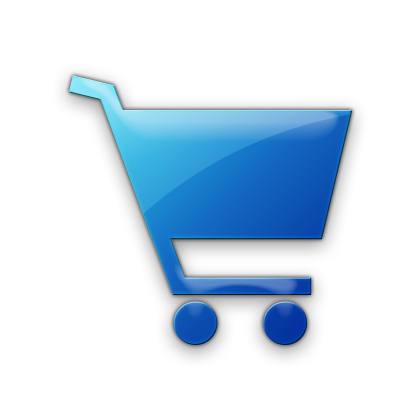 Blue Shopping Cart Icon image #28358
