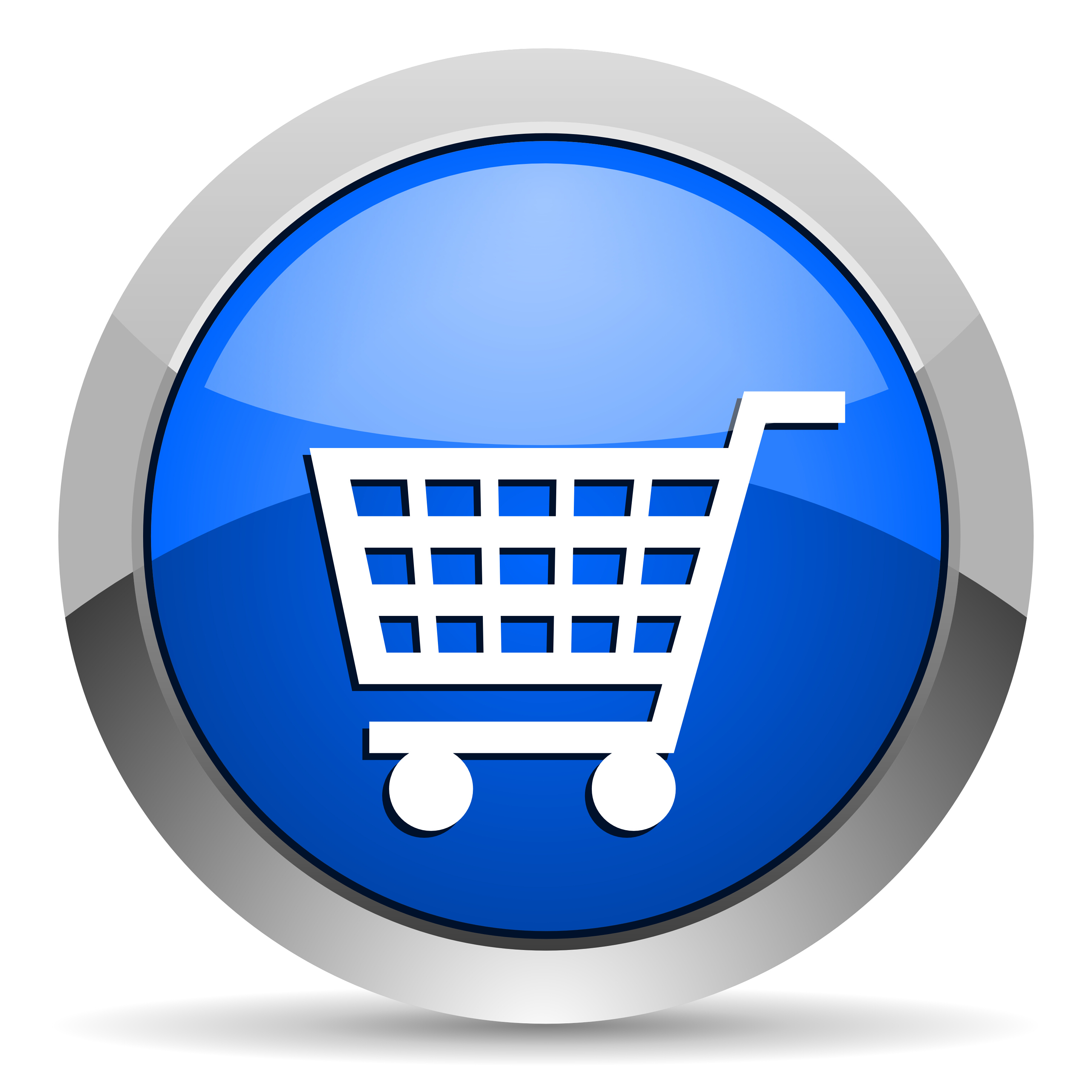 Blue Shopping Cart Icon image #29078